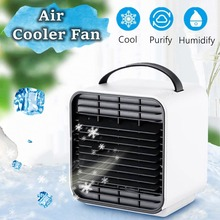 WXB New Mini Negative Ion LED Air Conditioning Fan Portable Air Conditioner Handheld Desk Fans air Cooler Humidifier Cool Down