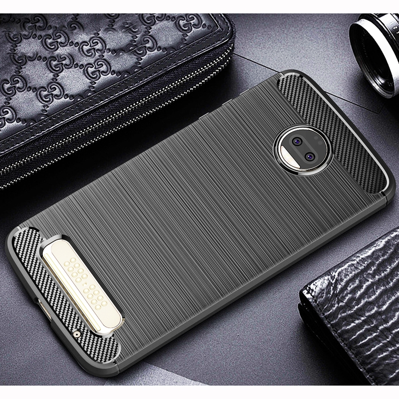 For Motorola Moto Z2 Force Case For Moto Z2 Force Cover Silicone Luxury Carbon Fiber Armor Phone Cases For Moto Z2 Force Case