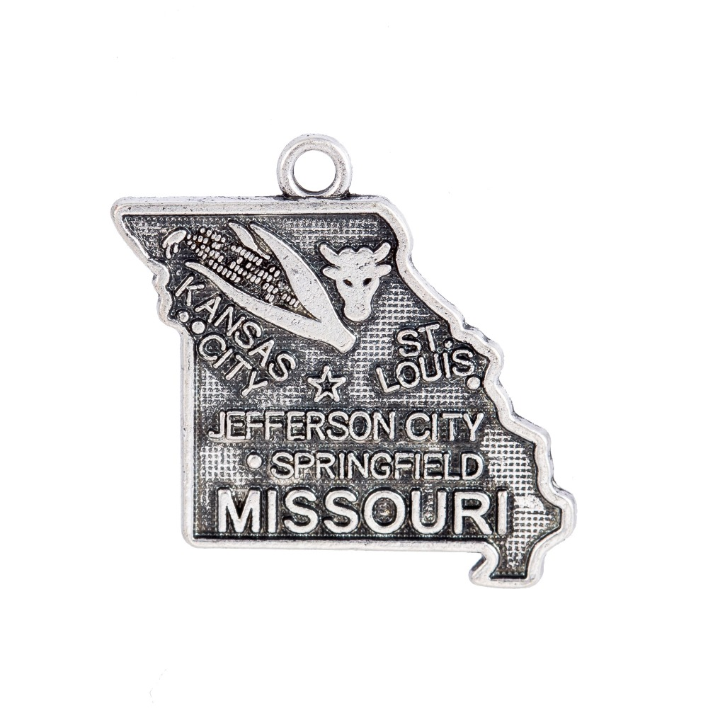 Skyrim Us State Missouri River Map Charm Diy Bracelet Necklace Jewelry Making Gift 10pcs Lot