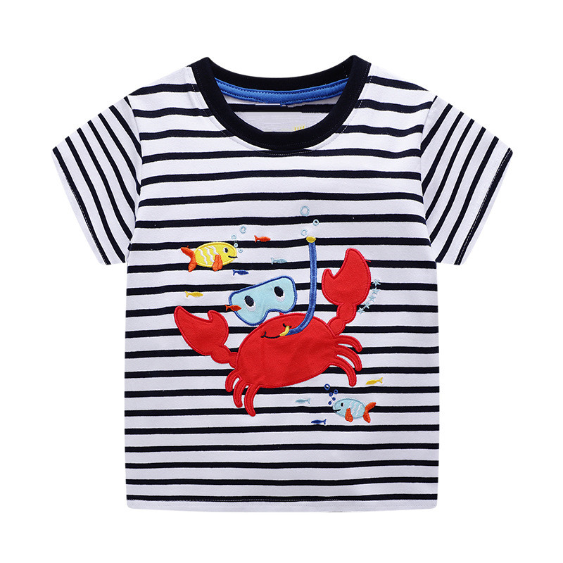 VIDMID 2-7Years Children baby boys Kids Boys T-Shirt Cotton Cartoon animals Baby Boys Short Sleeve t-Shirts Summer clothing W02 6