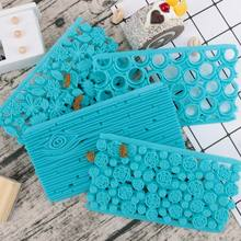 Icing Texture Food Grade Silicone Flower Cookie Cutter Fondant Mold Cake Decorating Tools Chocolate Baking Tools стоимость
