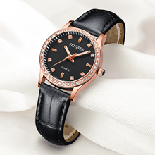 Women Watches Fashion Ladies Diamond Quartz Genuine Leather Strap Wristwatch Trend Simple Casual Students Girls Watch Gifts #a