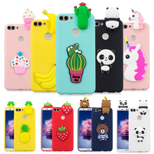 P Smart case for Fundas Huawei Plus 2019 Coque 2018 3D Unicorn Panda Soft Silicone Phone cover