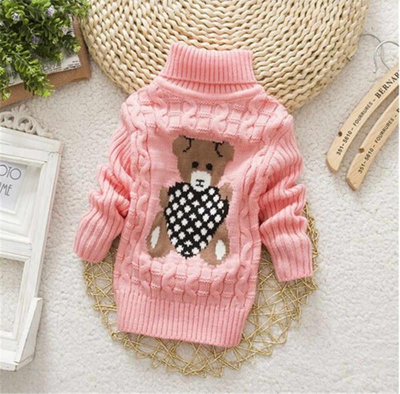BibiCola/высокое качество; пуловеры для маленьких мальчиков и девочек; свитеры с высоким воротником; осенне-зимняя теплая верхняя одежда с рисунком для маленьких детей; куртки