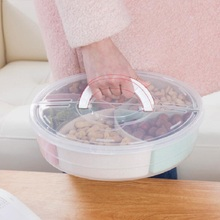 Dia 31cm Height 7.5cm Creative cover fruit plate Multi-function snack plastic tray Living room outdoor storage candy box
