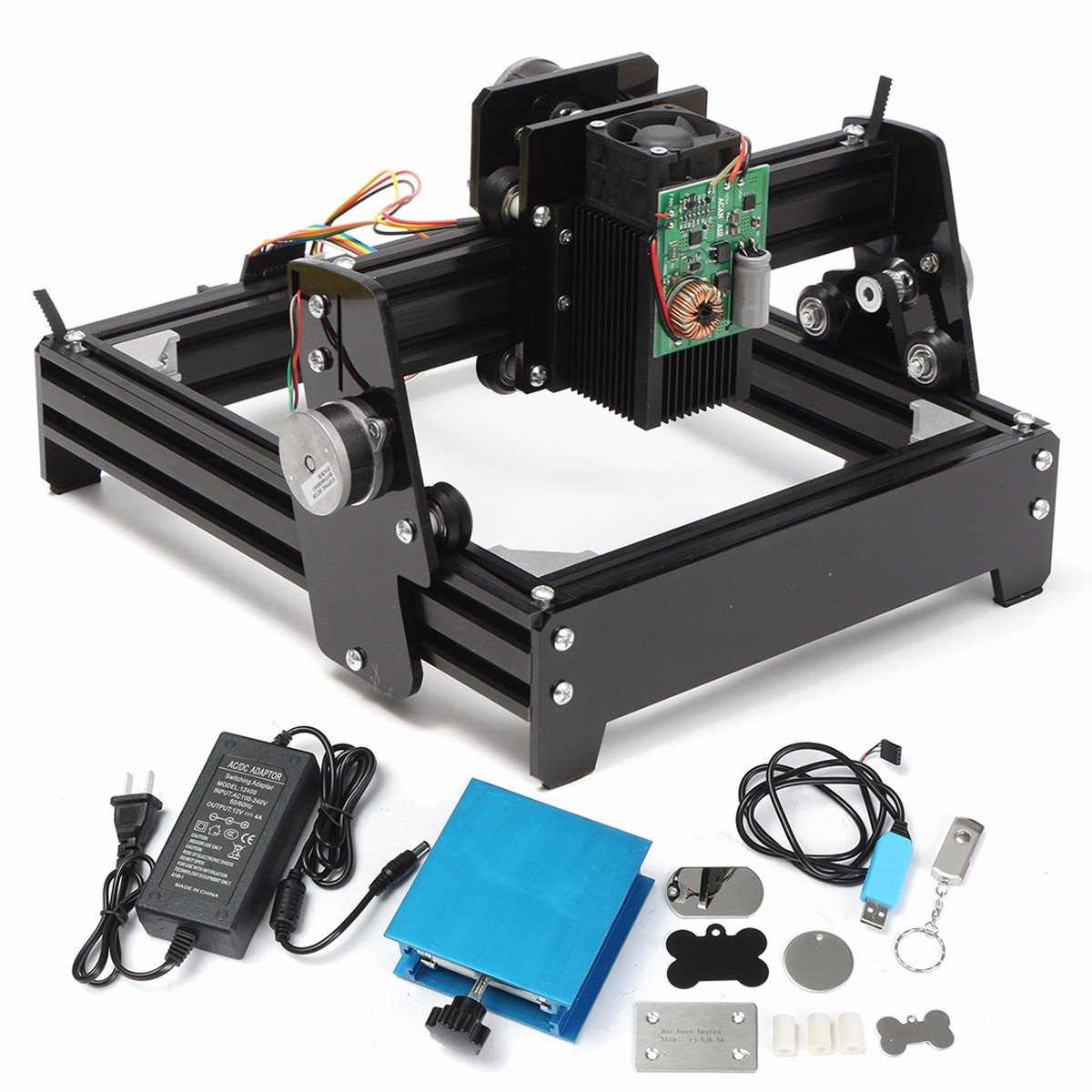 New 10W Laser  USB Desktop 10000mW CNC Laser Engraver DIY Marking Machine For Metal Stone Wood Engraving Area 14 x 20cm cnc router wood milling machine cnc 3040z vfd800w 3axis usb for wood working with ball screw