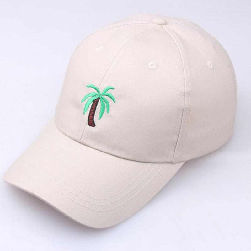 2019 New Embroidery Palm Trees Curved Dad Hats Baseball Cap Coconut Sun Hat Hip Hop Unisex Summer Snapback Hat Gift