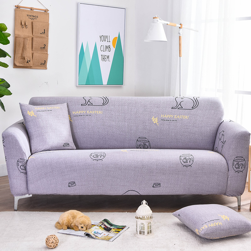 Cool Us 19 52 20 Off Purple Cat Pattern Slipcover Stretch Four Season Sofa Covers Furniture Protector Polyester Soft Loveseat Couch Cover Sofa Towel In Gmtry Best Dining Table And Chair Ideas Images Gmtryco