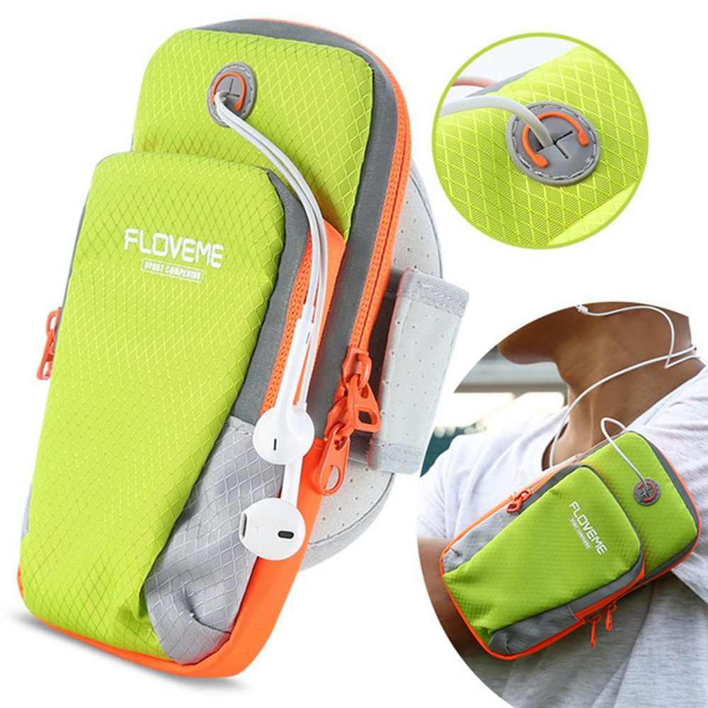 "FLOVEME 6.0 ""العالمي الذراع الفرقة حقيبة لهاتف أي فون X 8 7 6S 6 Plus 5s 5 SE تشغيل الرياضة الذراع أكياس غطاء لسامسونج هواوي شاومي"