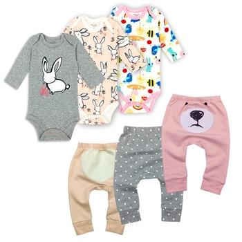 цена 6Pieces/Lot Baby boy clothes summer kids clothes sets bodysuit+pants suit Star Printed Clothing newborn sport suits baby's Sets онлайн в 2017 году