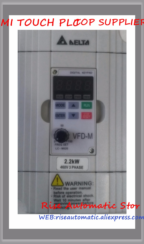 VFD-M Inverter AC motor drive 3 phase 380V 2.2Kw 3HP 5A 400HZ VFD022M43B new