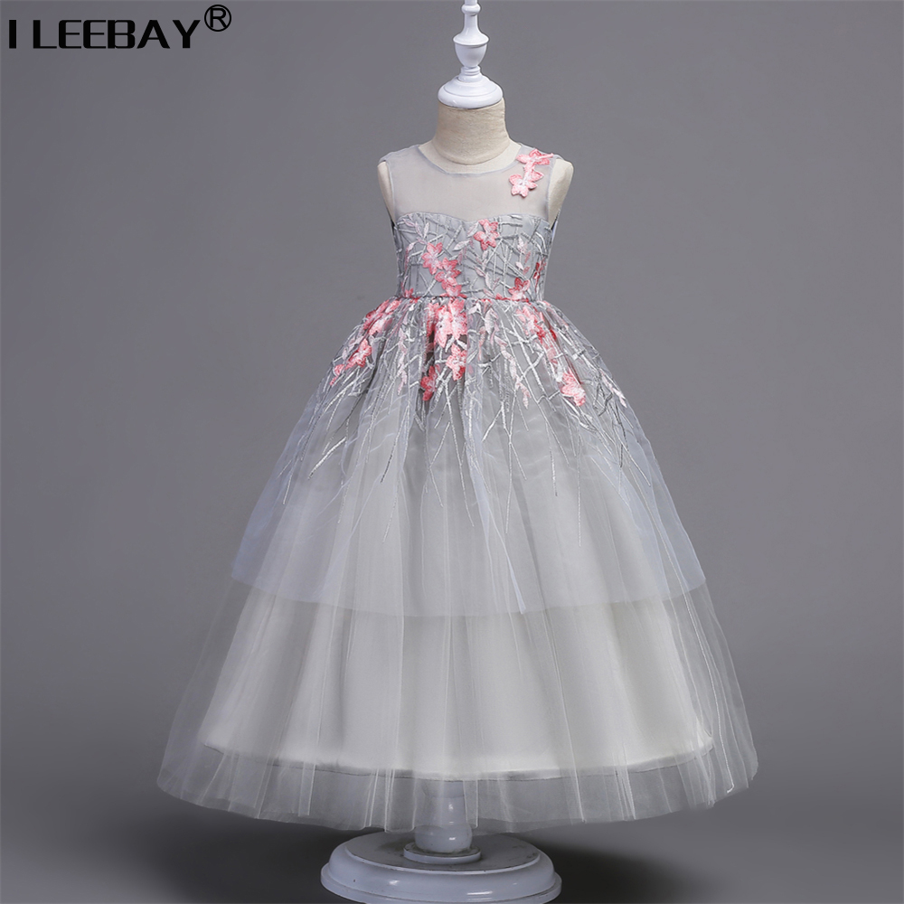 Mom Daughter Princess Dress for Wedding Party Big Flower Girl Long Dress Daughter Mother Girl Matching Clothes Family Look 2018 mom and daughter dress matching mother daughter clothes dresses girl princess party dress women robe family look clothing