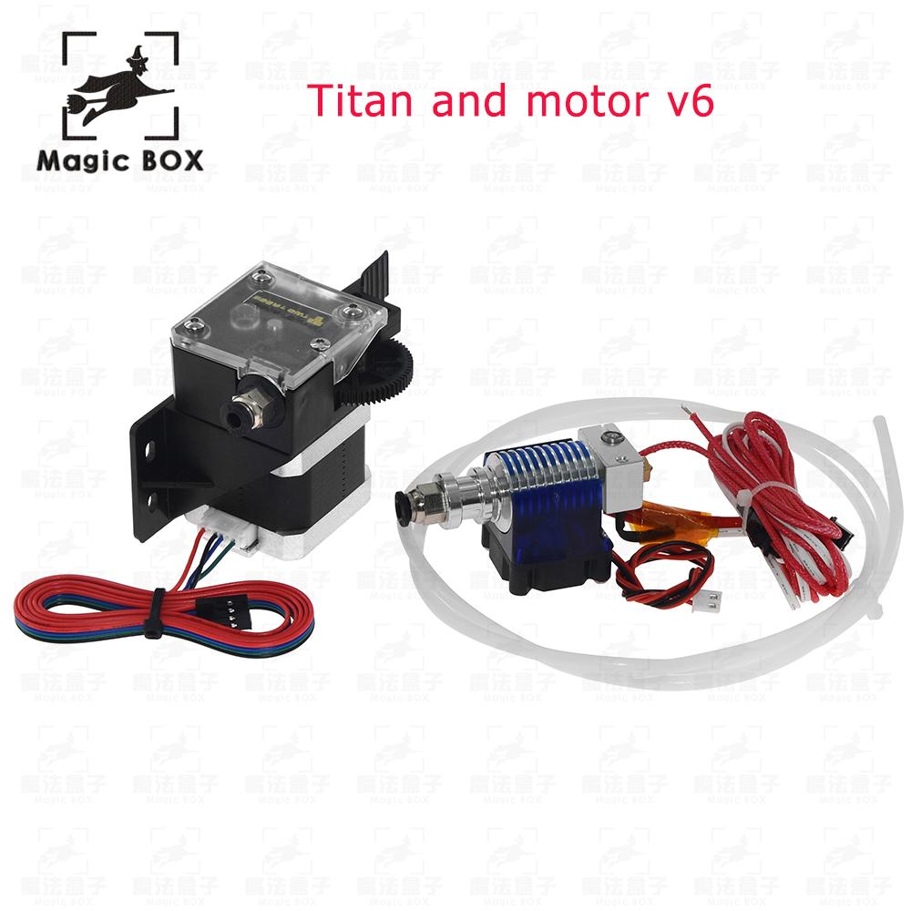 3D Printer Parts DIY Titan Extruder Fully Kits With Nema 17 Stepper Motor For V6 J-head Bowden Extruder Feeder Bracket цена 2017