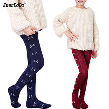 Girls Tight Pantyhose Knitted-Clothing 3-14-Years Child Fashion Warm Cartoon
