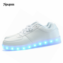 7ipupas Glowing Led Shoes Men&Unisex Luxe Brand Casual Light up Calzado Hombre Luminous Chaussure shoes Lumineuse For Adults