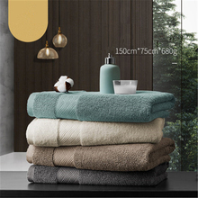 680g Five star hotel bath towel adult pure cotton soft couple home with extra thick water absorption