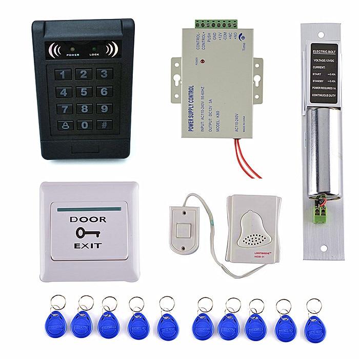 RFID Keypad Door Access Control System Kit + Electronic Control Lock+10 Keyfobs +Door Switch Button стоимость