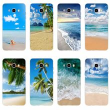 Clear Sea Sky Sandy beach Cover Soft Silicone TPU Phone Case For Samsung Galaxy S6 S6edge S6Plus A7 S7edge S8 S9 Plus A5 J7 2016(China)
