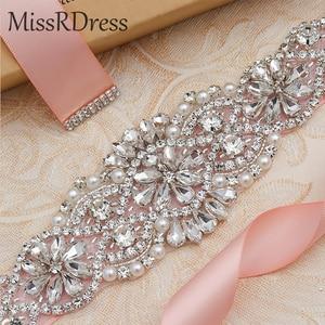 Image 5 - MissRDress, Свадебный ремень, ремень ручной работы из искусственного жемчуга, женское вечернее платье, Свадебный ремень с жемчугом JK834