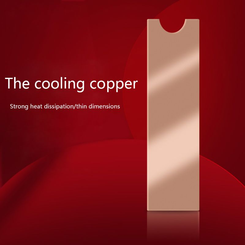 Cooling Copper Sheet M.2 Heatsink NVME Heat Sink NGFF M.2 2280 Thermal Conductivity Silicone Wafer Cooling Fan Cooler