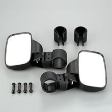 1Pair Motorcycle Rear View Mirror For UTV ATV Off Road Large Wide Race Cafe Racer Motorbike Rearview Mirrors