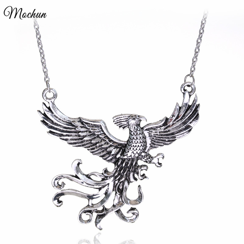 MQCHUN Dumbledore s Magic Exquisite Phoenix Pendant Necklace Fashion Gifts For Fans Movie Jewelry Wholesale And Retail 2017 Hot