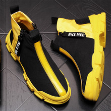Fashion Men Shoes Breathable Male Tenis Masculino Yellow