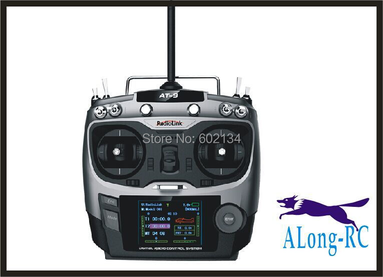 цена hot sell: RC airplane /model hobby/ spare part lanyu radio 2.4G 9ch transmitter and 9CH reciver / radiolink AT9 radio