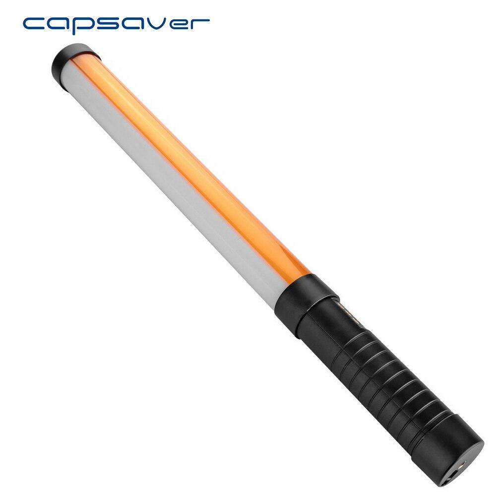 Fotográfica com Controle Luz de Vídeo Capsaver Stl-900 Portátil Handheld Tubo Regulável Bi-color Led 3200 K e 5600 K Iluminação Remoto