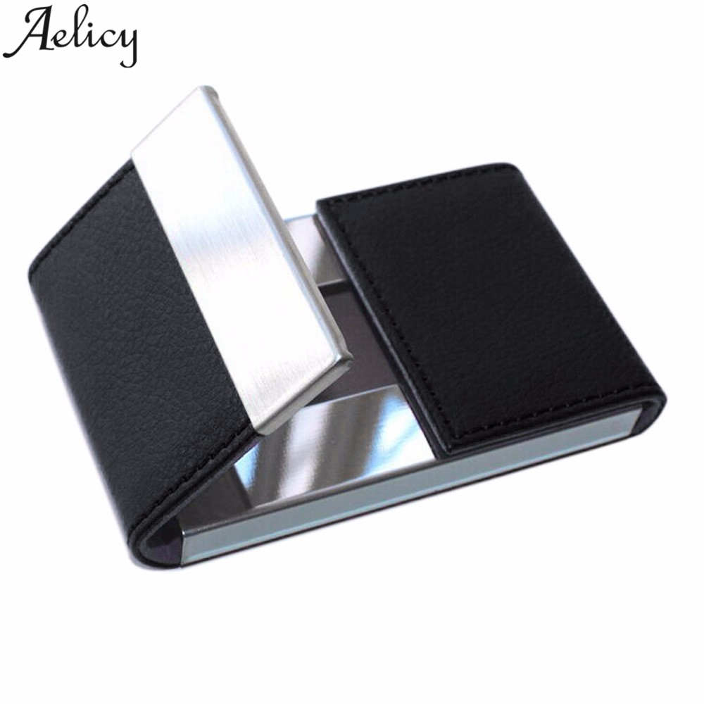 Aelicy Brand Elegant Business Credit Card Holder Metal Wallet Porte Carte Pocket Bank ID Card Holder Case Gift Metal Card HolderAelicy Brand Elegant Business Credit Card Holder Metal Wallet Porte Carte Pocket Bank ID Card Holder Case Gift Metal Card Holder