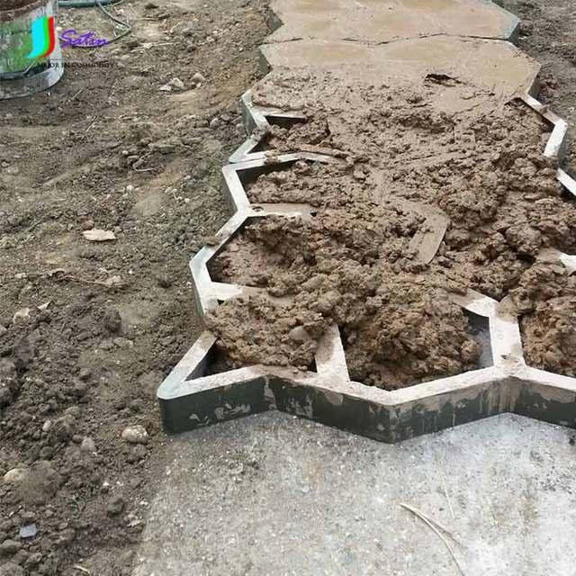 Compa ero de camino diy molde para hacer caminos de - Hacer pared de piedra ...