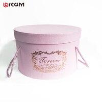 Saint Valentine's Day Textured Material Cardboard Tube Rose Gift Paper Round Flower Box