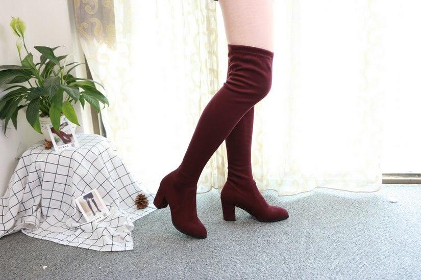 Women Over The Knee High Heel Winter Sexy Boots 52
