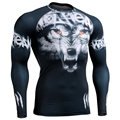 Thermal Under Top Compression Shirts for Mens T-shirts Body Building Top Jersey MMA Rashguard Workout Fitness Man's Clothings