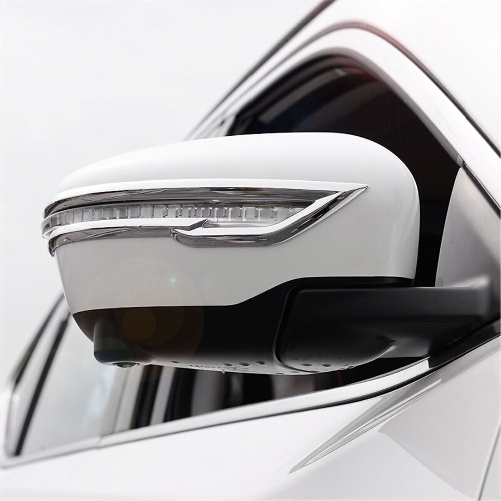 Rearview Trim Cover For Nissan X trail Rogue T32 2014 2015 2016 Rear Mirror Sticker For Nissan Qashqai J11 X trail T32 2017 2018-in Chromium Styling from Automobiles & Motorcycles