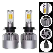 2 Pcs H4 LED H7 H11 9006 H1 H3 COB C6 Auto Car Headlight Bulbs(LED) 36W 4000LM High Low Beam Bulb Automobile Lamp 6000K 12 V