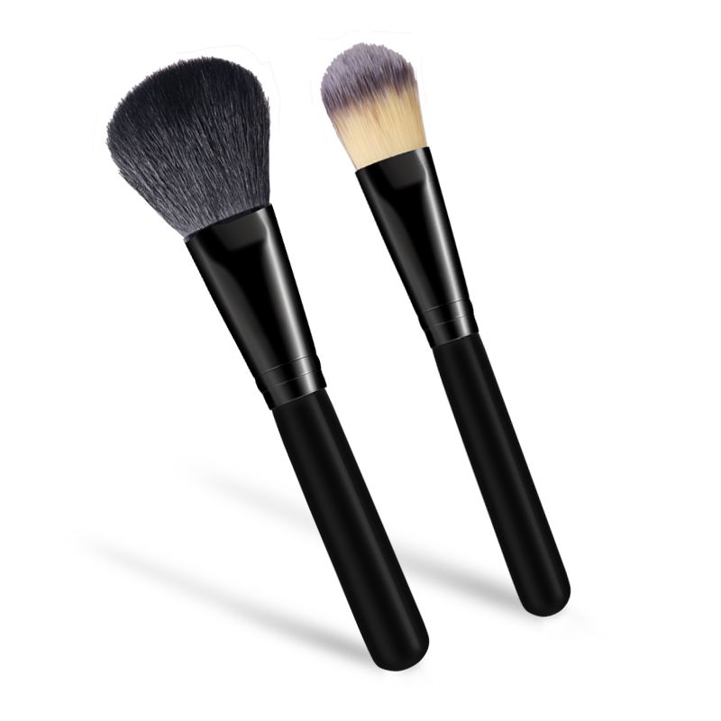 Black Makeup brushes kabuki cosmetic beauty tools powder face brushes (5)