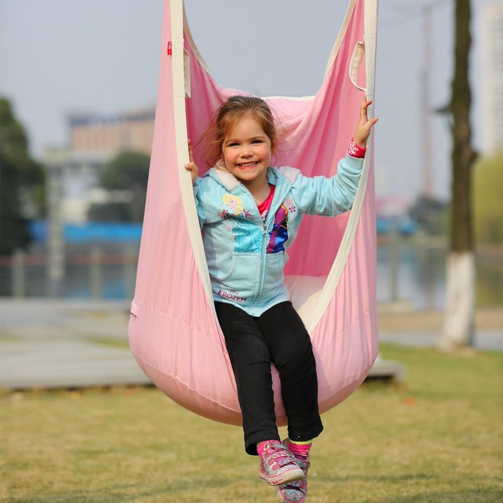 Indoor swings for kids - Garden Swing For Children Baby Inflatable Hammock Hanging Swing Chair Kids Indoor Outdoor Pod Swing Seat