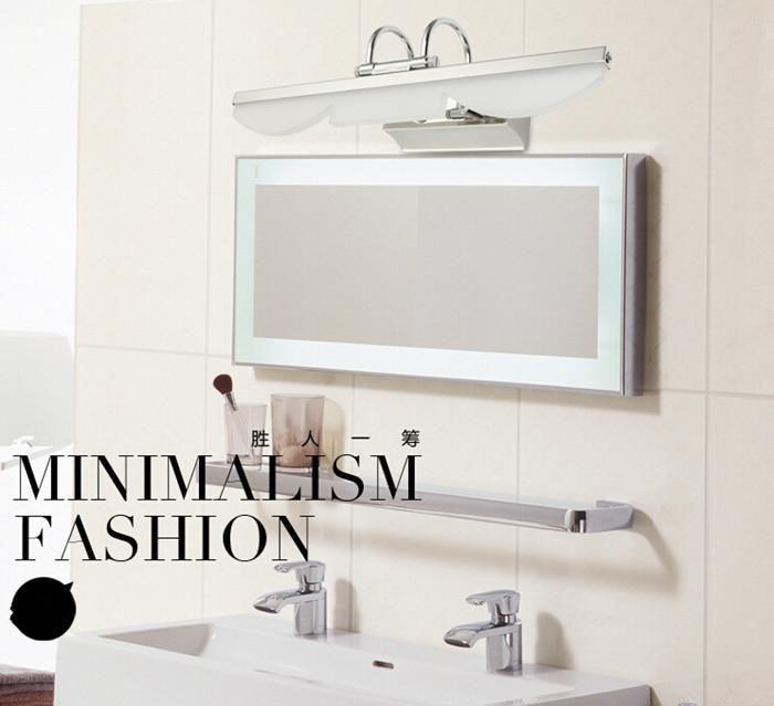 SMD 5050 5W Stainless steel LED  Mirror wall lamp Lens ark light Waterproof Bathroom lamps|mirror wall lamps|bathroom lamp|wall lamp - title=