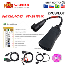 2 шт./лот для Lexia 3 PP2000 полный чип Diagbox V7.83 для Lexia3 No.921815C для Citroen для Peugeot OBD2 scan OBD диагностический инструмент