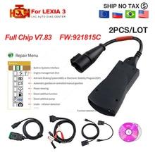 2pcs/Lot for Lexia 3 PP2000 Full Chip Diagbox V7.83 for Lexia3 No.921815C For Citroen for Peugeot OBD2 scan OBD Diagnostic Tool