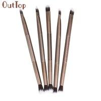 Pretty OutTop Women 5PCS Makeup Eye Powder Foundation Eyeshadow Blending Double-Ended Brush Pen Pinceau de maquillage