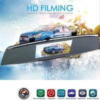 5 Inch Car DVR Camera Dash Cam Full HD 1080P IPS Rear View Mirror Camcorder Auto