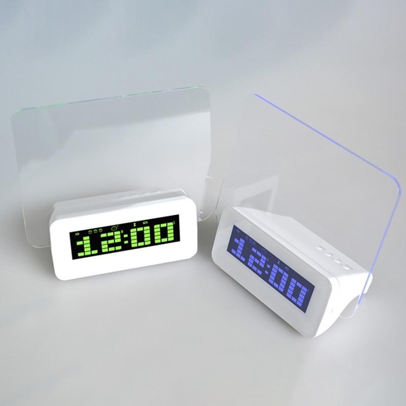Betrouwbaar Led Digitale Wekker Tl Message Board Usb 4 Port Hub Desktop Tafel Klok Met Blauwe Kalender Met Een Langdurige Reputatie