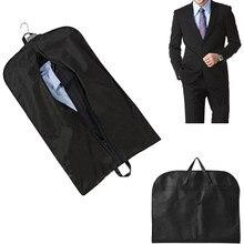 88781665fc3cf 3 kolory mężczyźni pyłoszczelna wieszak płaszcz ubrania garnitur pokrywa  torby do przechowywania na ubrania przypadku pokrowce