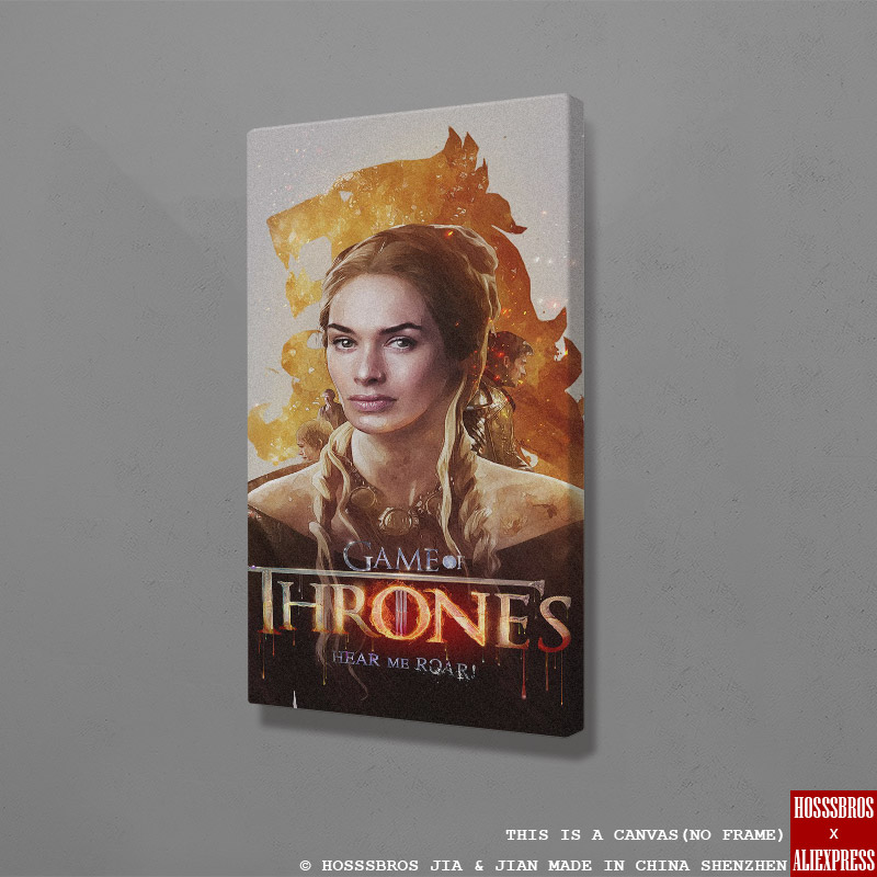 Cersei Lannister Game Of Throne GOT Poster Home Kids Living Room Bedroom Decor Print Poster Picture Painting Wall Art Canvas