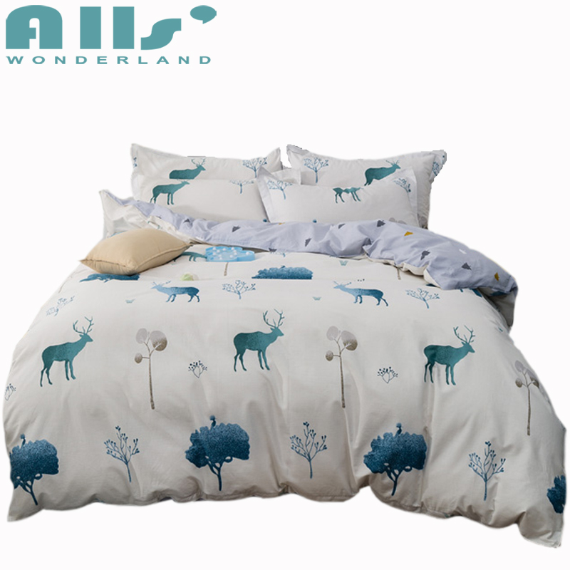 font b Cute b font Deer Patterns Duvet Cover Set Bedding Sets Queen and King