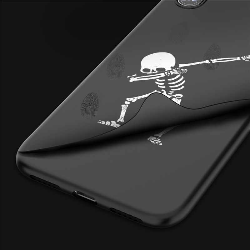 Tikitaka Line Art Painting Case For iPhone X XS XR XS Max Black Fashion Pattern Shell For Iphone 8 8Plus Simple Scrub Back Cover