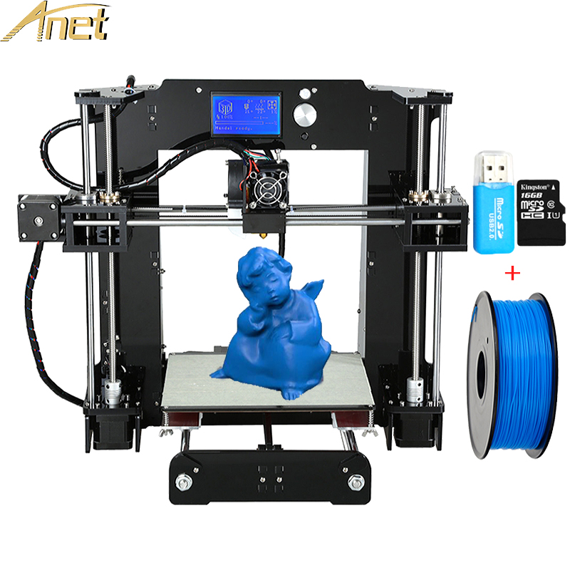 High precision Anet A6 A8 Desktop 3d printers Reprap i3 DIY 3D Printer Kit With Free PLA&ABS Filament TF Card imprimante 3D premium fluorescent red 3d printer filament 1 75 3mm abs pla 1kg 2 2lb reprap markerbot