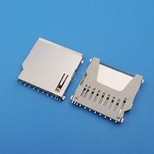 100Pcs SD Speicher Karte Buchse Adapter PCB Mount anschluss